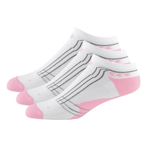 Womens Road Runner Sports Dryroad Simple & Speedy No Show 3 pack Socks - Tickled ...
