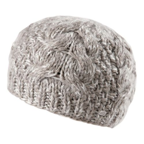 Womens Road Runner Sports Stitch In Time Cable Knit Beanie Headwear - Dove Grey