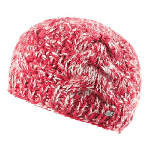 Womens Road Runner Sports Stitch In Time Cable Knit Beanie Headwear - Passion Punch