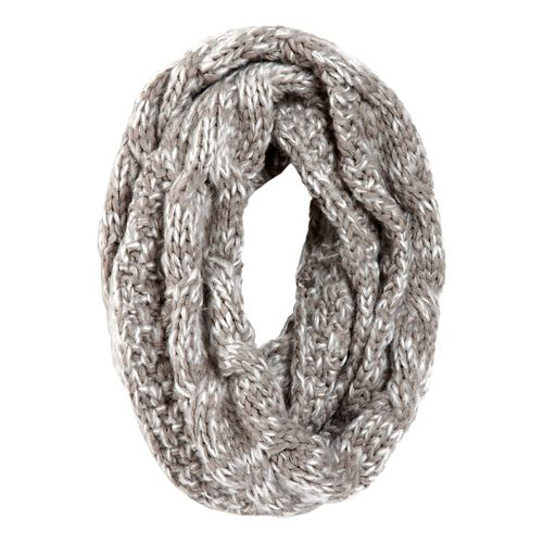 Womens Road Runner Sports Stitch In Time Cable Knit Infinity Scarf Headwear - Dove Grey ...