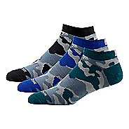 Mens Road Runner Sports Seize the Day Camo Thin No Show 3 pack Socks