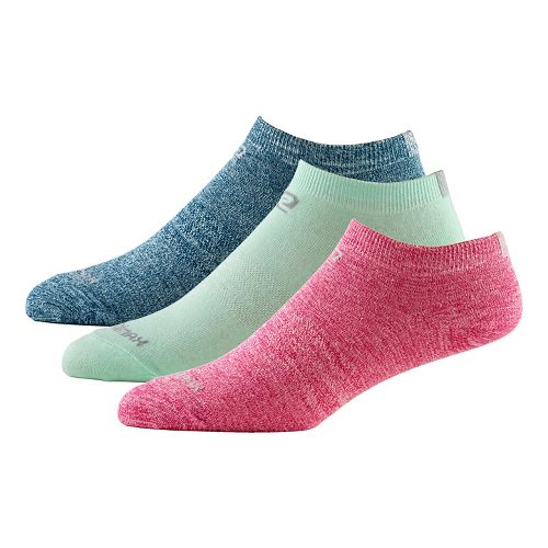 Womens Road Runner Sports Skip in Your Step Thin Low 3 pack Socks - Heather ...