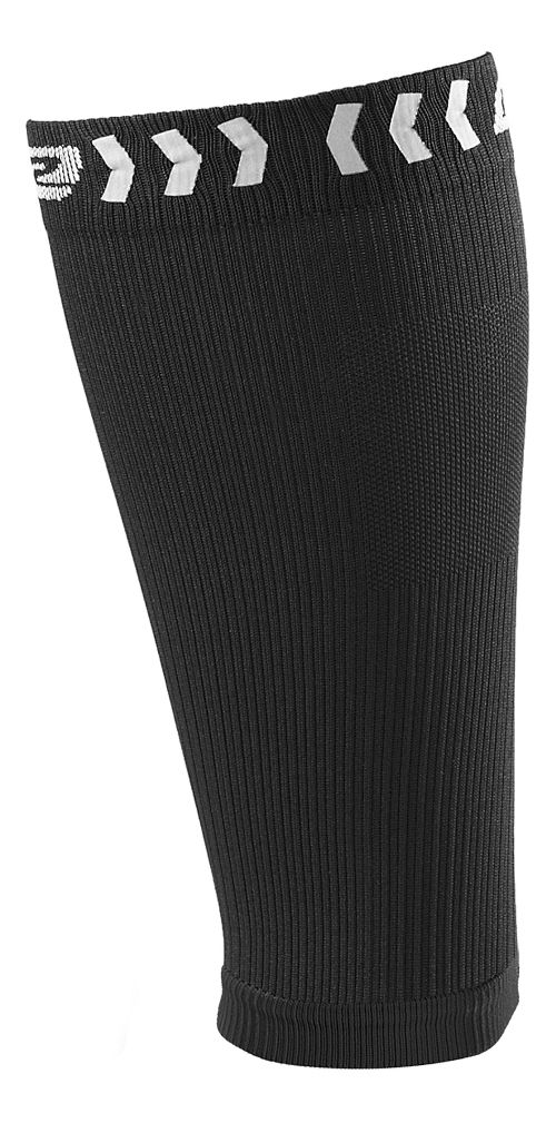 Road Runner Sports SpeedPro Compression Calf Sleeves Injury Recovery - Black L