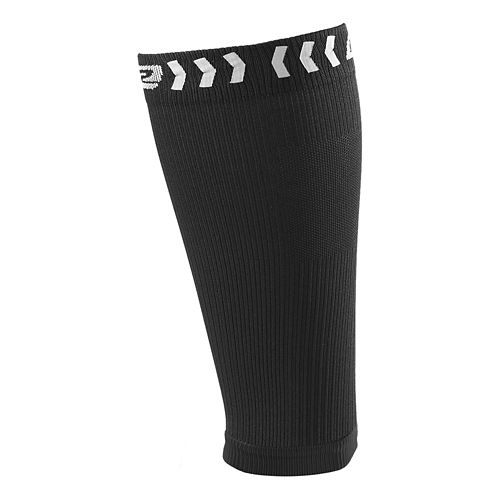 Road Runner Sports Speed Pro Compression Calf Sleeves Injury Recovery - Black M