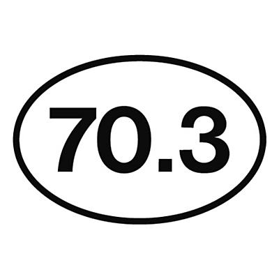 Runner Stickers 70.3 Sticker Fitness Equipment
