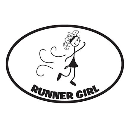 Runner Stickers Runner Girl Sticker Fitness Equipment