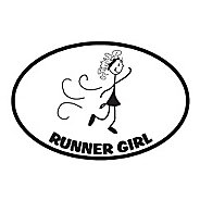Runner Stickers Runner Girl Magnet Fitness Equipment