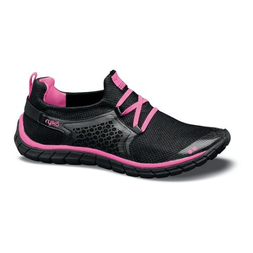Womens Ryka Desire Running Shoe - Black/Neon Pink 7
