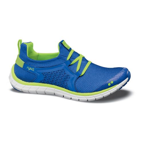 Womens Ryka Desire Running Shoe - Blue Ribbon/Neon Yellow 11