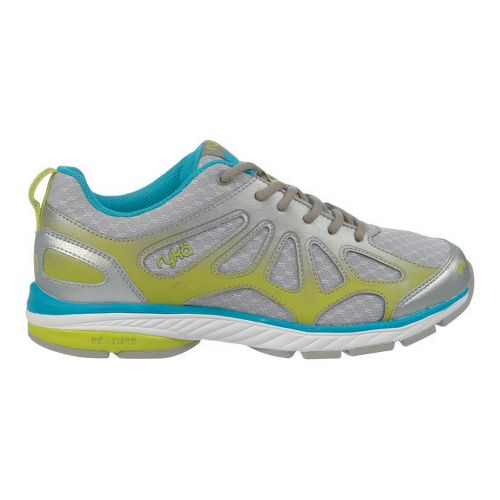 Womens Ryka Fanatic Plus Running Shoe - Chrome Silver/Forge Grey 6.5