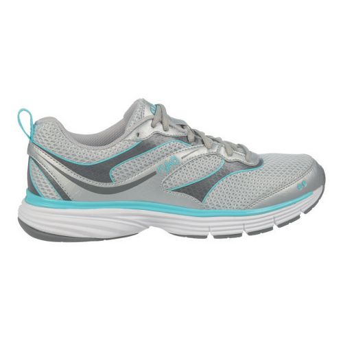 Womens Ryka Illusion 2 Running Shoe - Chrome Silver/Steel Grey 10