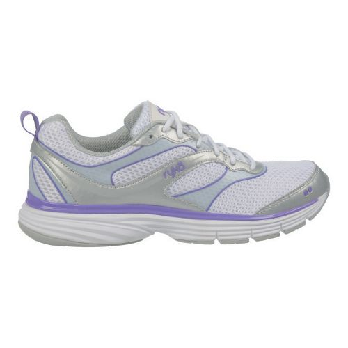 Womens Ryka Illusion 2 Running Shoe - White/Chrome Silver 10.5