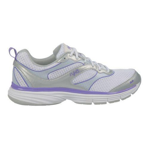 Womens Ryka Illusion 2 Running Shoe - White/Chrome Silver 7.5