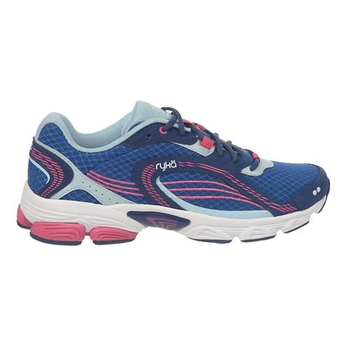 Womens Ryka Ultimate Running Shoe - Jet Ink Blue/Pink 10.5