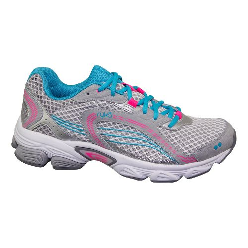 Womens Ryka Ultimate Running Shoe - Cool Mist Grey/Chrome Silver 6.5