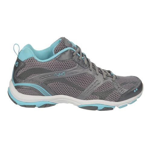 Womens Ryka Enhance 2 Running Shoe - Frost Grey/Blue 6.5