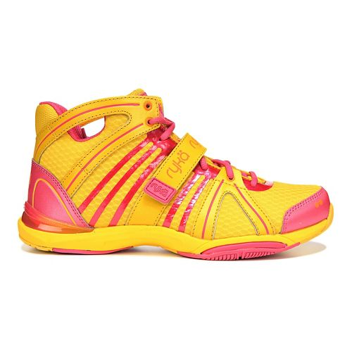 Womens Ryka Tenacity Cross Training Shoe - Yellow/Pink 9.5