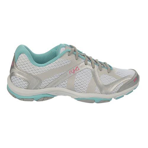 Womens Ryka Influence Cross Training Shoe - White/Aqua Sky 8.5