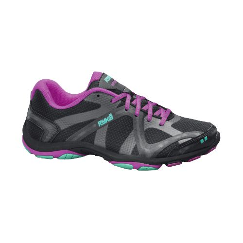 Womens Ryka Influence Cross Training Shoe - Black/Deep Lilac 7.5