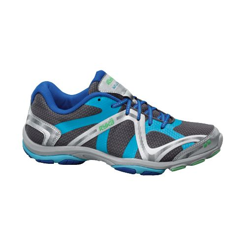 Womens Ryka Influence Cross Training Shoe - Steel Grey/Metallic Detox Blue 5.5