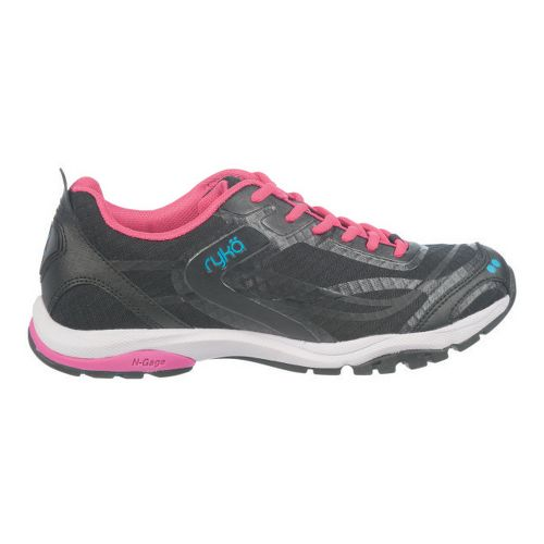 Womens Ryka Fit Pro Cross Training Shoe - Black/Zuma Pink 5