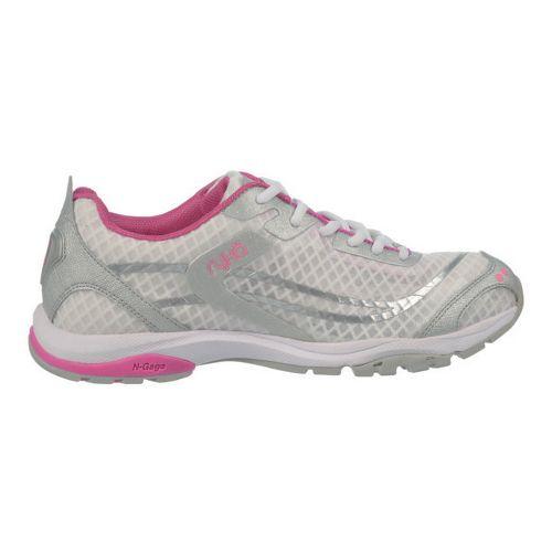 Womens Ryka Fit Pro Cross Training Shoe - White/Chrome Silver 7.5
