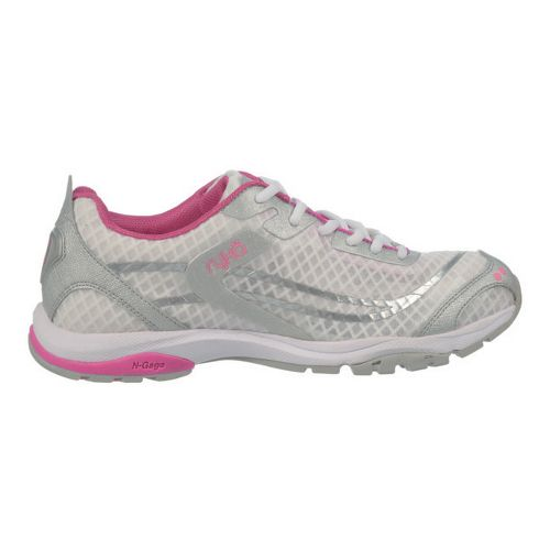 Womens Ryka Fit Pro Cross Training Shoe - White/Chrome Silver 9