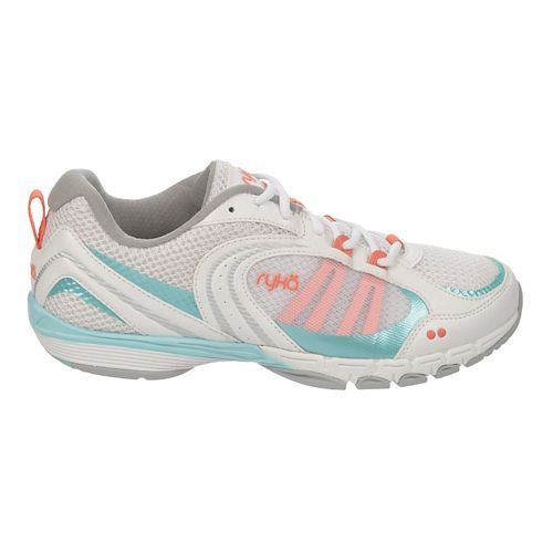 Womens Ryka Flextra Cross Training Shoe - White/Aqua Sky 8.5