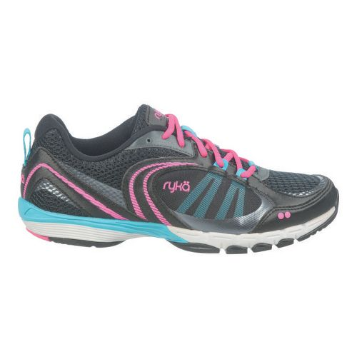 Womens Ryka Flextra Cross Training Shoe - Black/Detox Blue 6.5