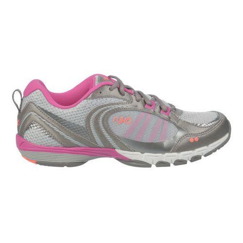 Womens Ryka Flextra Cross Training Shoe - Chrome Silver/Metallic Steel Grey 10.5