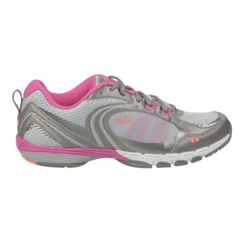 Womens Ryka Flextra Cross Training Shoe - Chrome Silver/Metallic Steel Grey 5.5