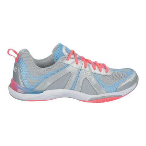 Womens Ryka Moxie Cross Training Shoe - Chrome Silver/Elite Blue 10