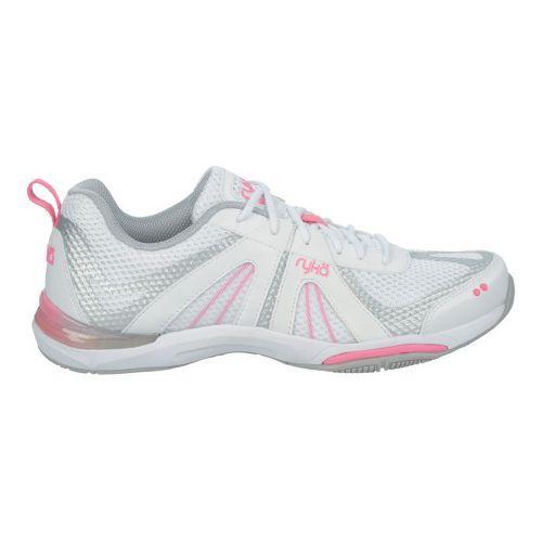 Womens Ryka Moxie Cross Training Shoe - White/Hot Pink 7.5