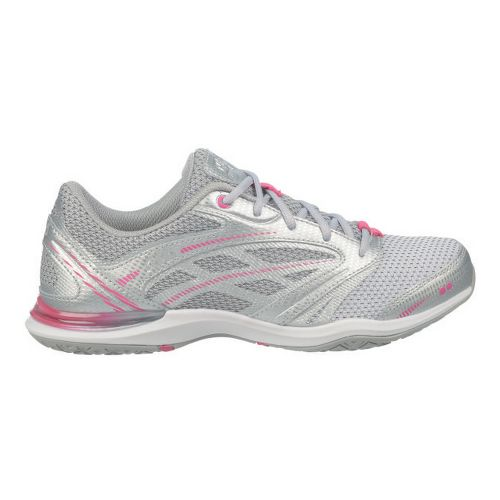 Womens Ryka Endure Cross Training Shoe - White/Chrome Silver 8.5