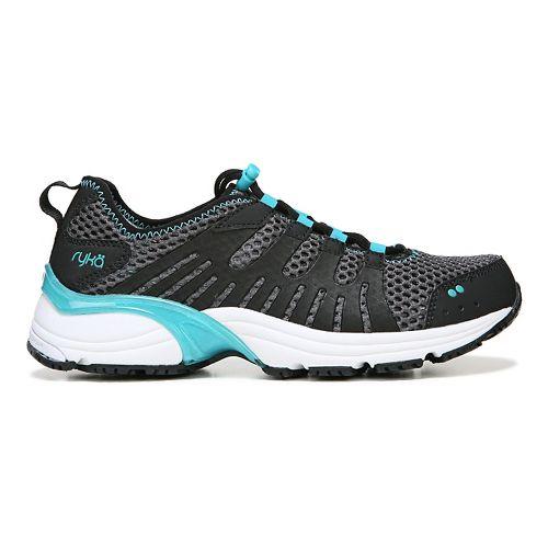 Womens Ryka Hydro Sport Running Shoe - Black/Iron Grey 7
