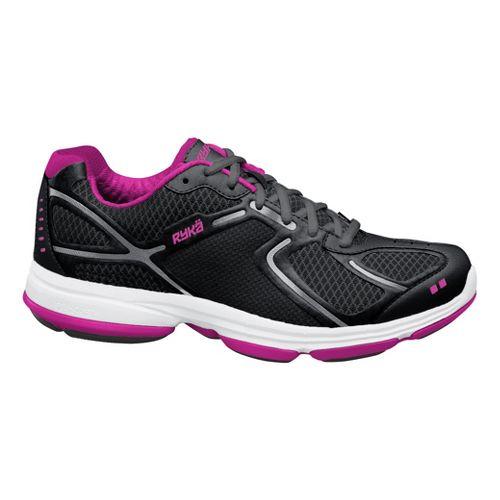 Womens Ryka Devotion Walking Shoe - Black/Chrome Silver 5.5