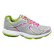 Womens Ryka Devotion Walking Shoe - Chrome Silver/Lime Blaze 5.5