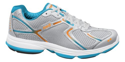 Womens Ryka Devotion Walking Shoe - Chrome Silver/Nirvana Blue 5.5