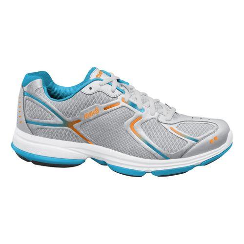 Womens Ryka Devotion Walking Shoe - Chrome Silver/Nirvana Blue 7.5