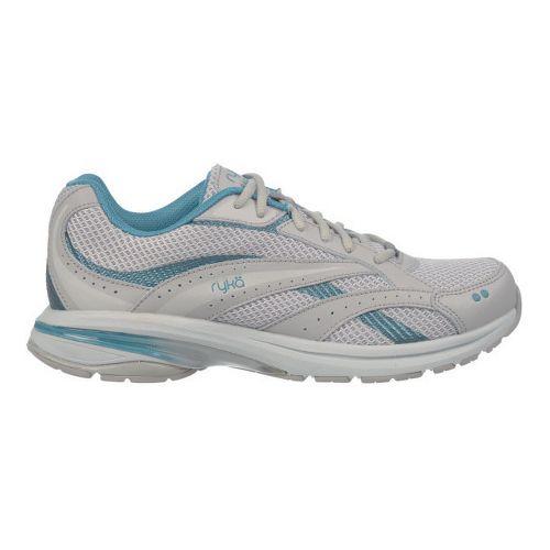 Womens Ryka Radiant Plus Walking Shoe - Cool Mist Grey/Silver Cloud 5.5