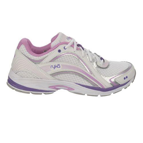 Womens Ryka Sky Walk Cross Training Shoe - White/Fairy Lavender 8.5