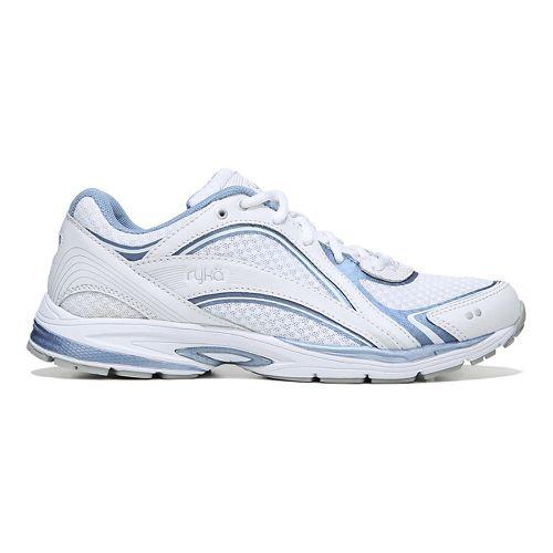 Womens Ryka Sky Walking Shoe - White/Blue 8.5
