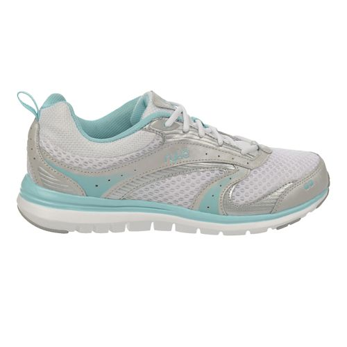 Womens Ryka Cloudwalk Walking Shoe - White/Aqua Sky 5.5