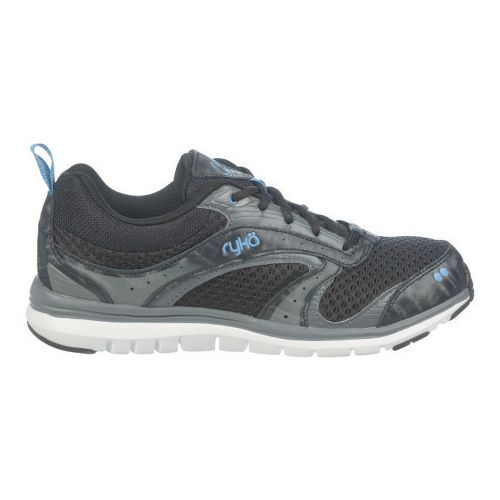 Womens Ryka Cloudwalk Walking Shoe - Black/Iron Grey 5.5