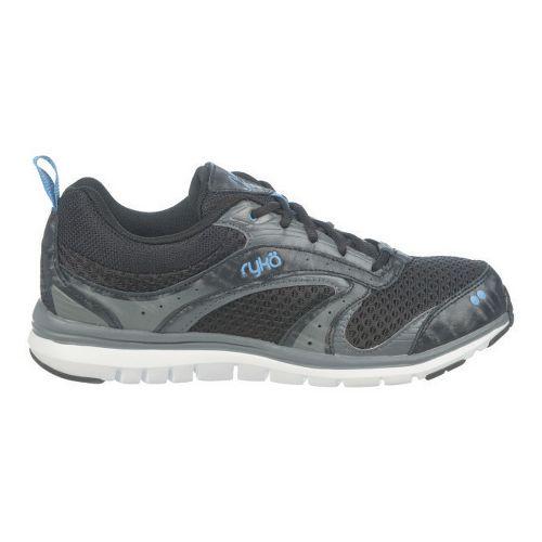 Womens Ryka Cloudwalk Walking Shoe - Black/Iron Grey 7.5