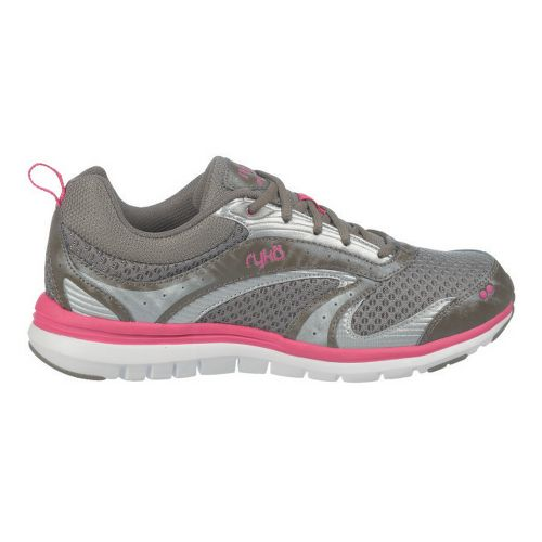 Womens Ryka Cloudwalk Walking Shoe - Metallic Steel Grey/Zuma Pink 10