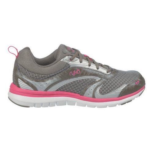 Womens Ryka Cloudwalk Walking Shoe - Metallic Steel Grey/Zuma Pink 5