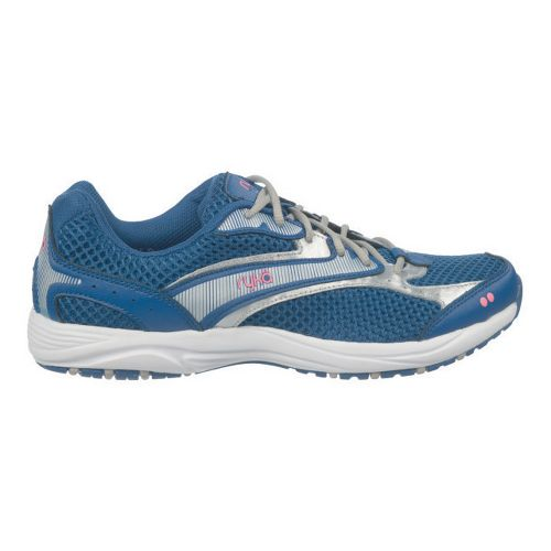 Womens Ryka Dash Walking Shoe - Jet Ink Blue/Chrome Silver 7.5