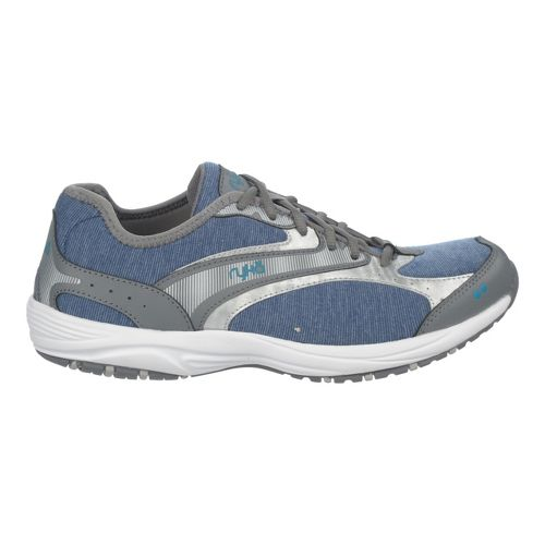 Womens Ryka Dash Stretch Walking Shoe - Jet Ink Blue/Stealth Grey 5
