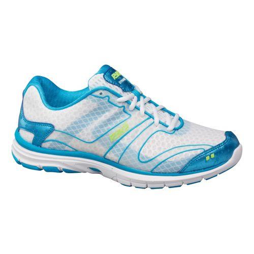 Womens Ryka Dynamic Cross Training Shoe - White/Metallic Ocean Blue 8.5